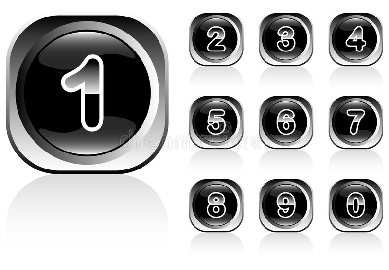 Numbers buttons stock images