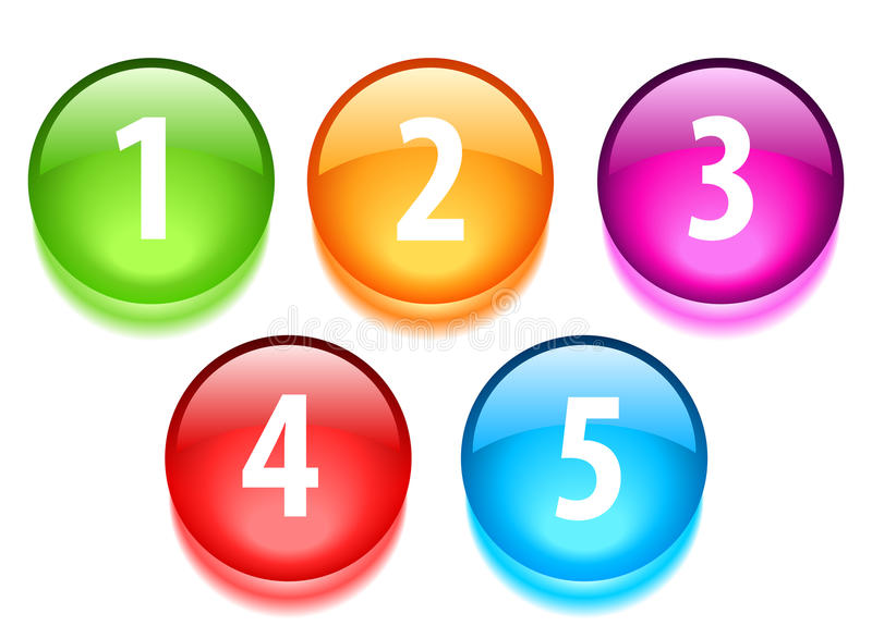 Numbers buttons royalty free illustration