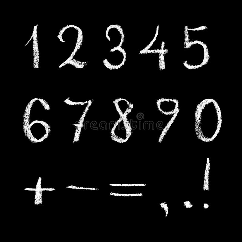 Download Numbers on chalkboard stock illustration. Image of backgrounds - 11815489