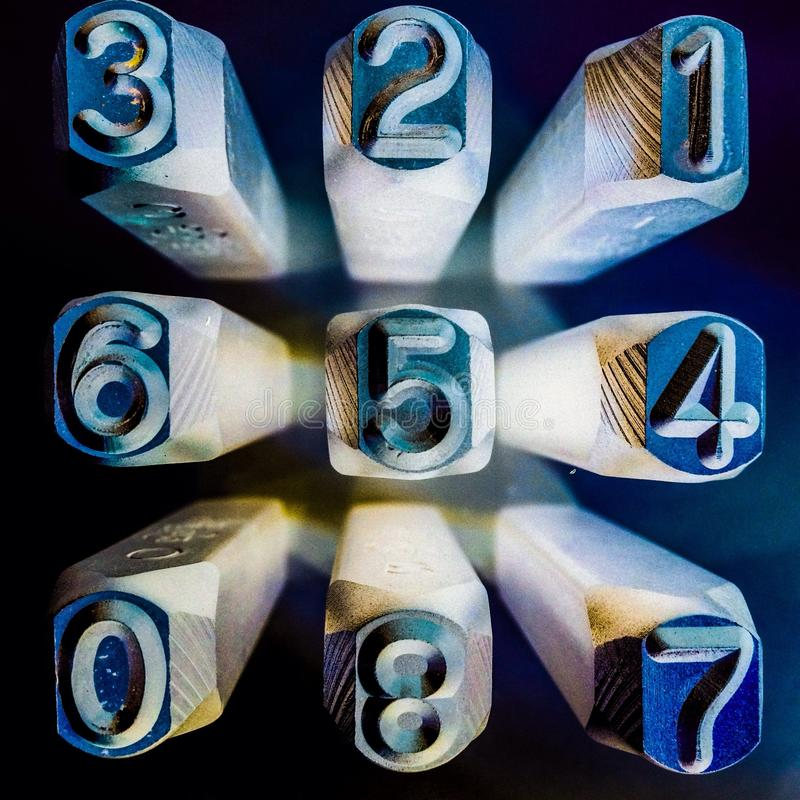 Numbers of Chance stock photography