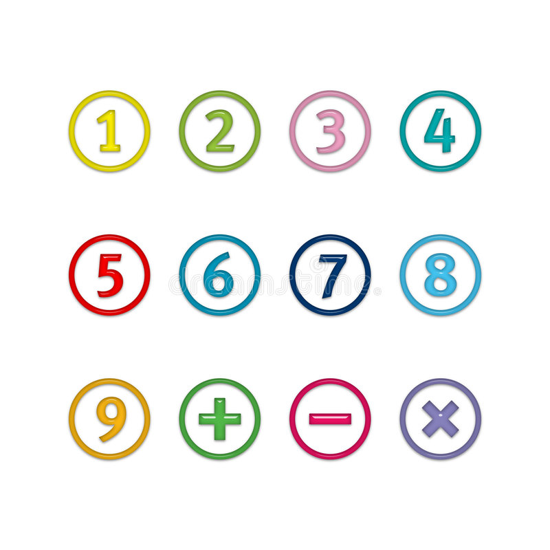 Numbers in circles