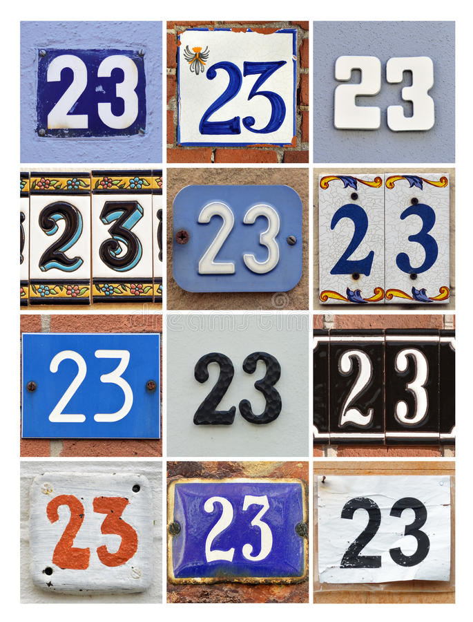 Numbers 23 Royalty Free Stock Photos