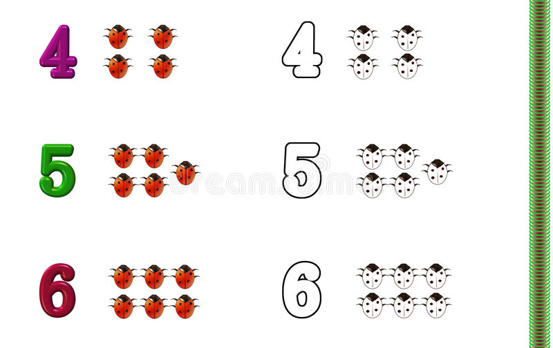 Download Numbers Coloring Page Royalty Free Stock Images - Image: 10393489