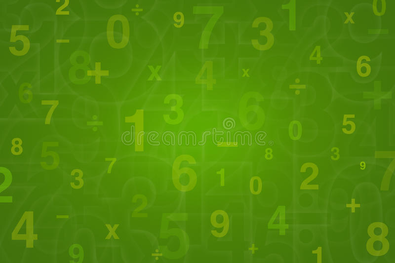 Numbers design for Mathematics background vector illustration