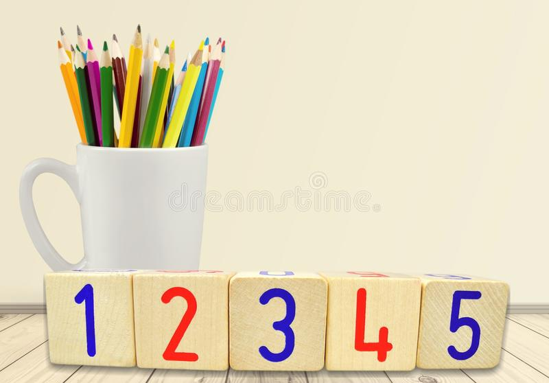 Numbers. Digits background game educational baby fun royalty free stock image
