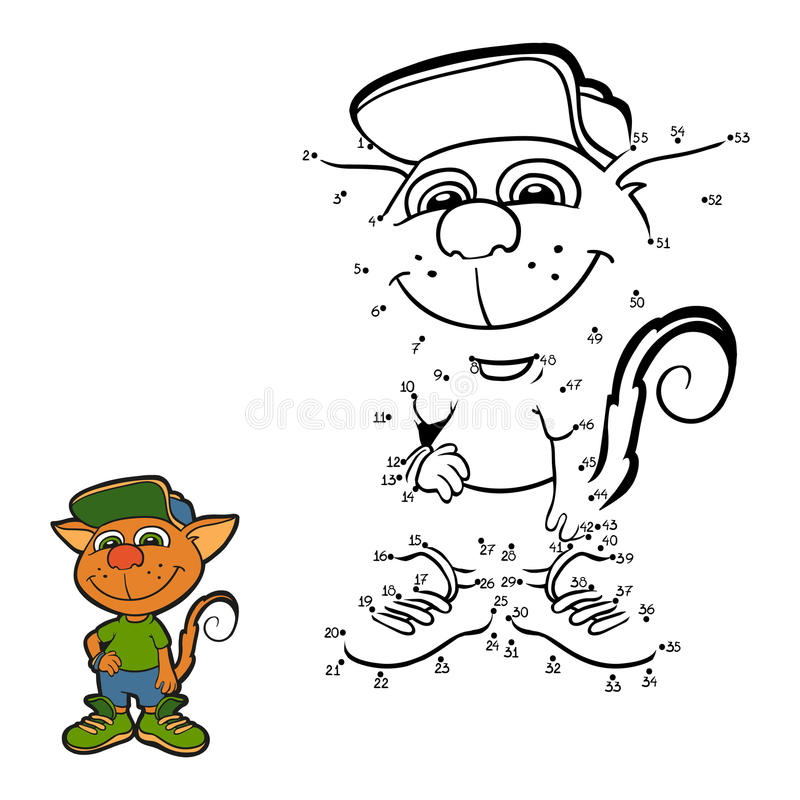 Numbers game (cat) stock illustration