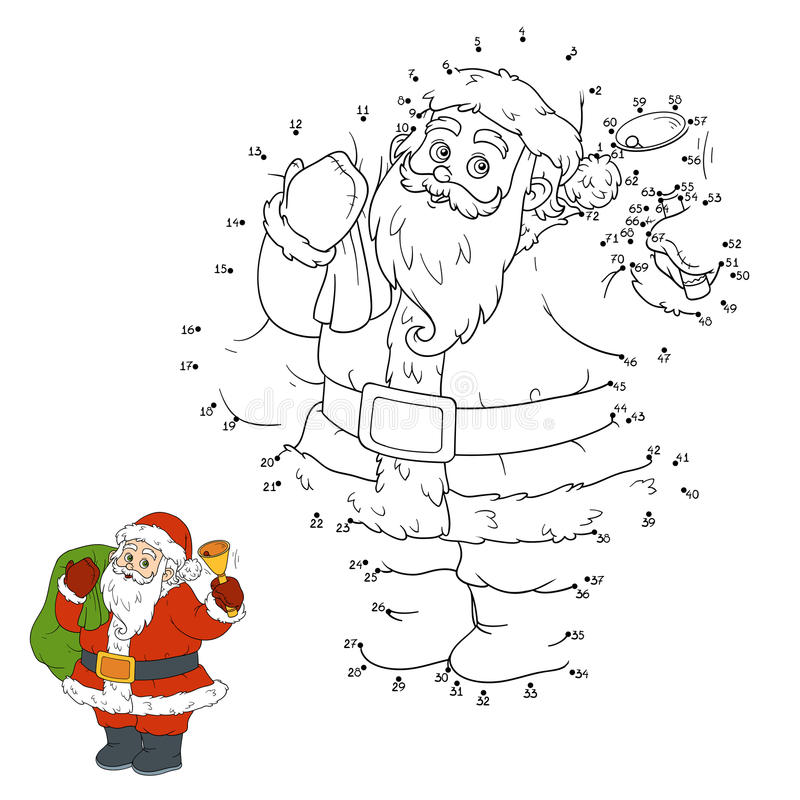 Download Numbers Game For Children: Santa Claus Stock Vector - Image: 61808635