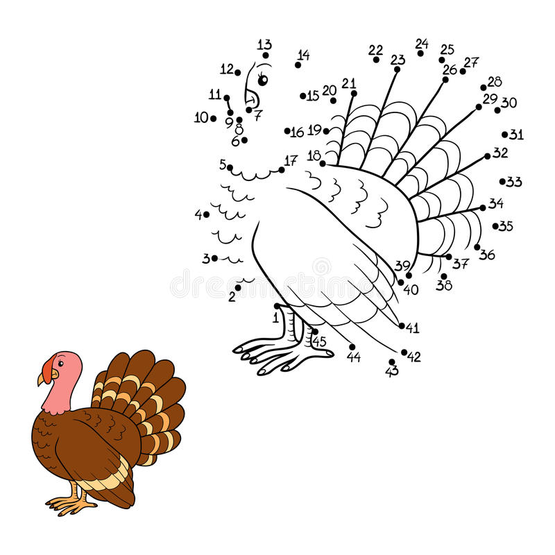 Numbers game. Game for children: Numbers game (turkey royalty free illustration