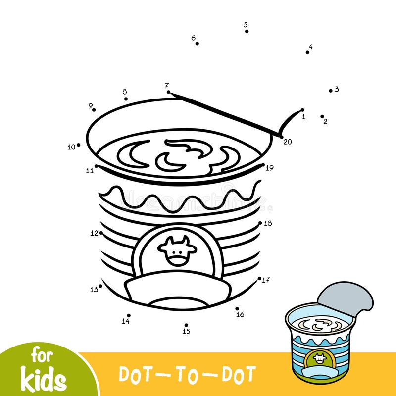 Numbers game, education dot to dot game, Sour cream stock illustration