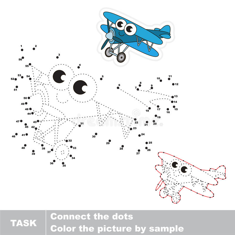 Numbers game with transport. stock illustration