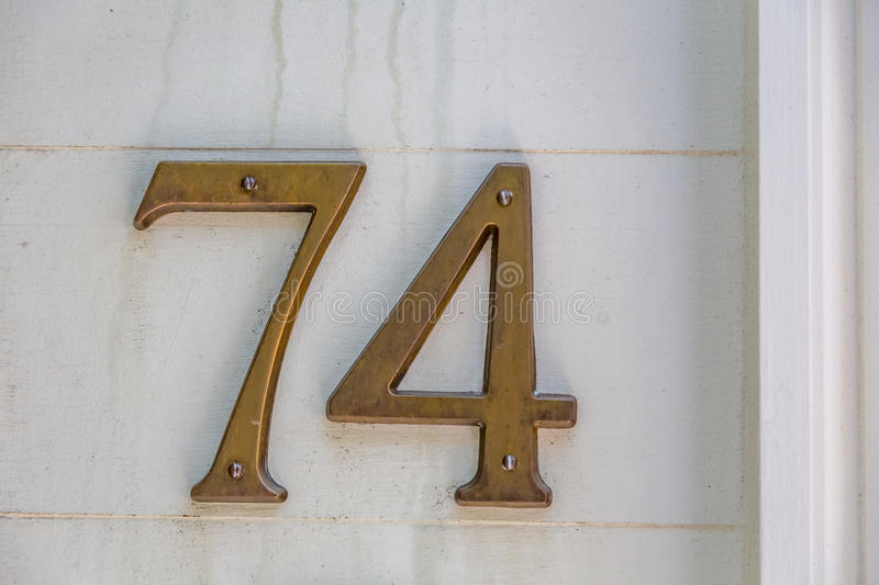 By the Numbers. House numbers on private residences in Charleston, South Carolina stock photos