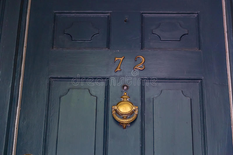 By the Numbers. House numbers on private residences in Charleston, South Carolina stock images