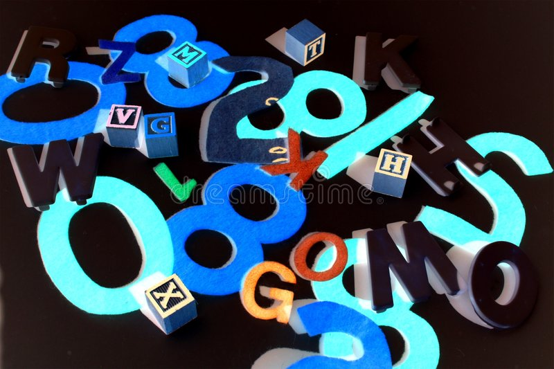 Download Numbers And Letters On Black Stock Photo - Image: 6057622