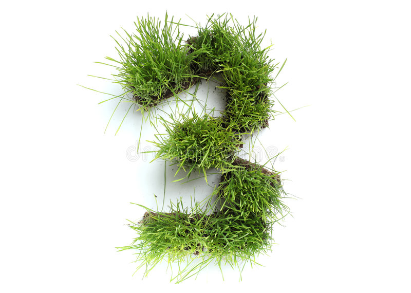 Download Numbers made of grass stock image. Image of spring, ecology - 9048433