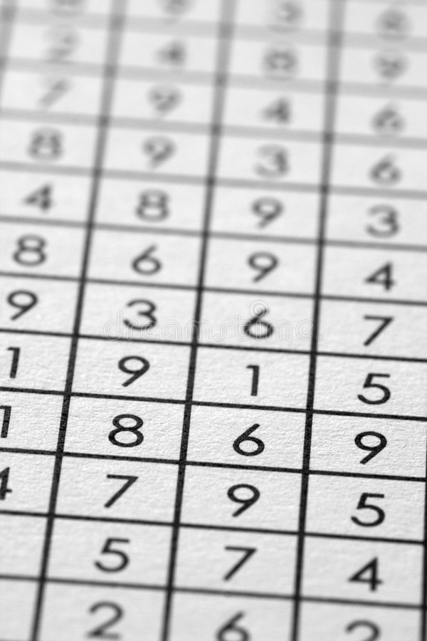 Download Numbers Matrix On Paper Royalty Free Stock Photography - Image: 7372447