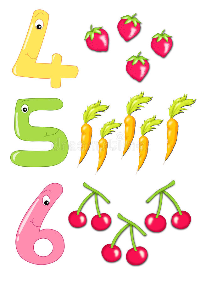 Numbers, part 2 stock photo