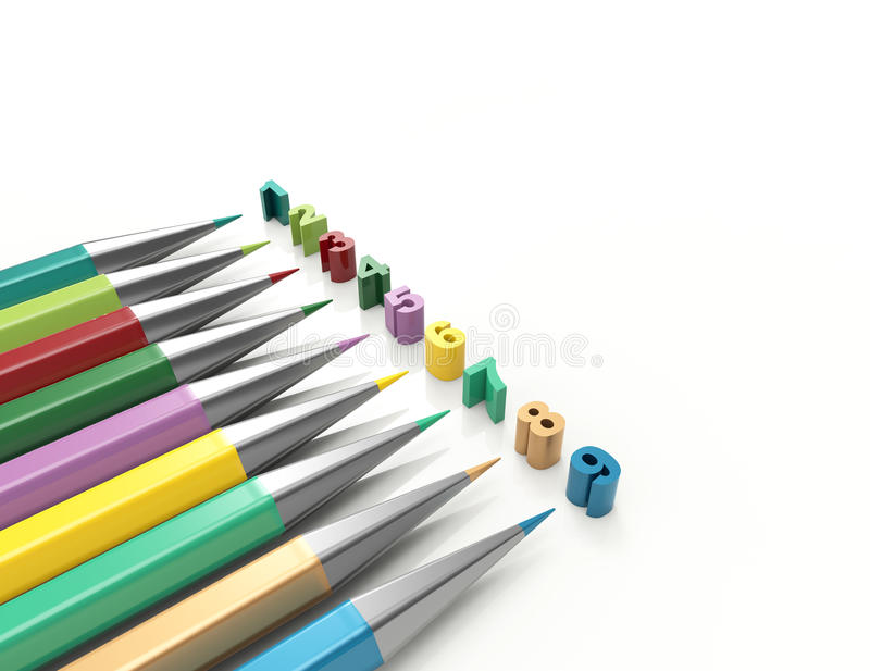 Pencil Swatch Stock Illustration  Illustration Of