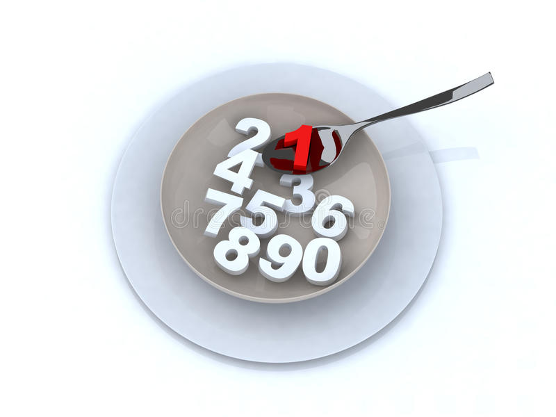 Numbers On The Plate Stock Image