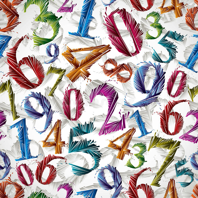 Numbers seamless pattern. stock illustration