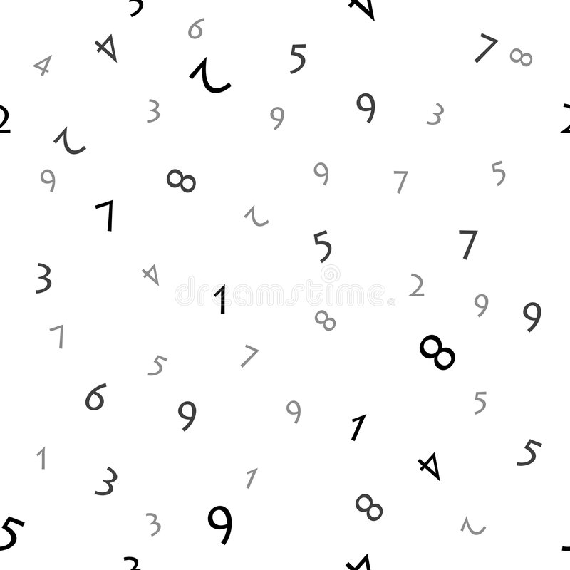 Download Numbers (seamless Vector) Royalty Free Stock Images - Image: 3353539