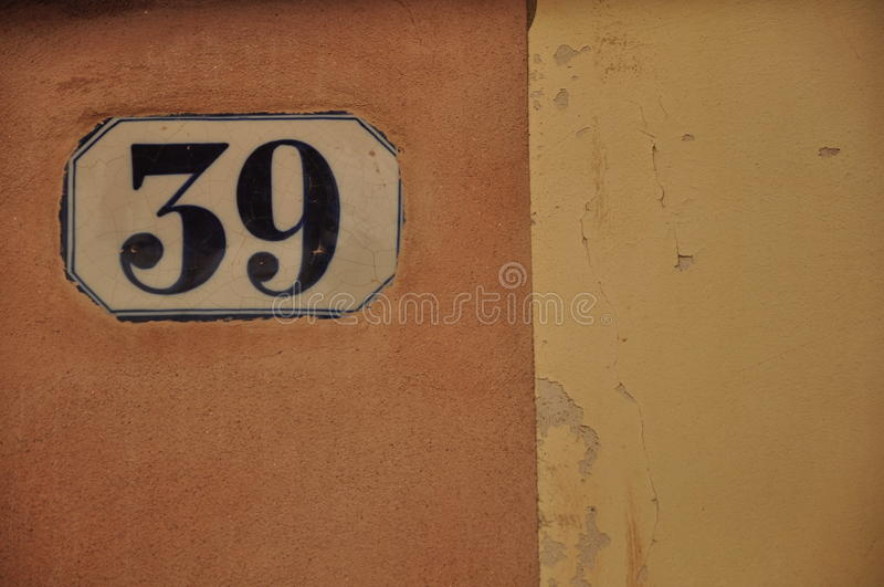 Numbers serie. Numbers Yellow brick stock images