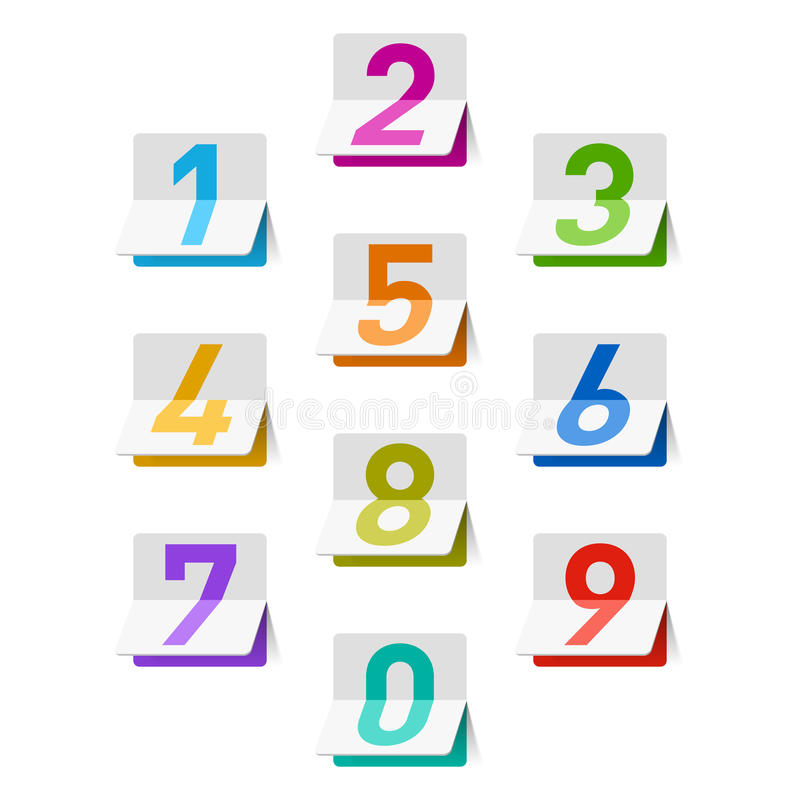 Download Numbers set stock vector. Illustration of count, shiny - 25465545