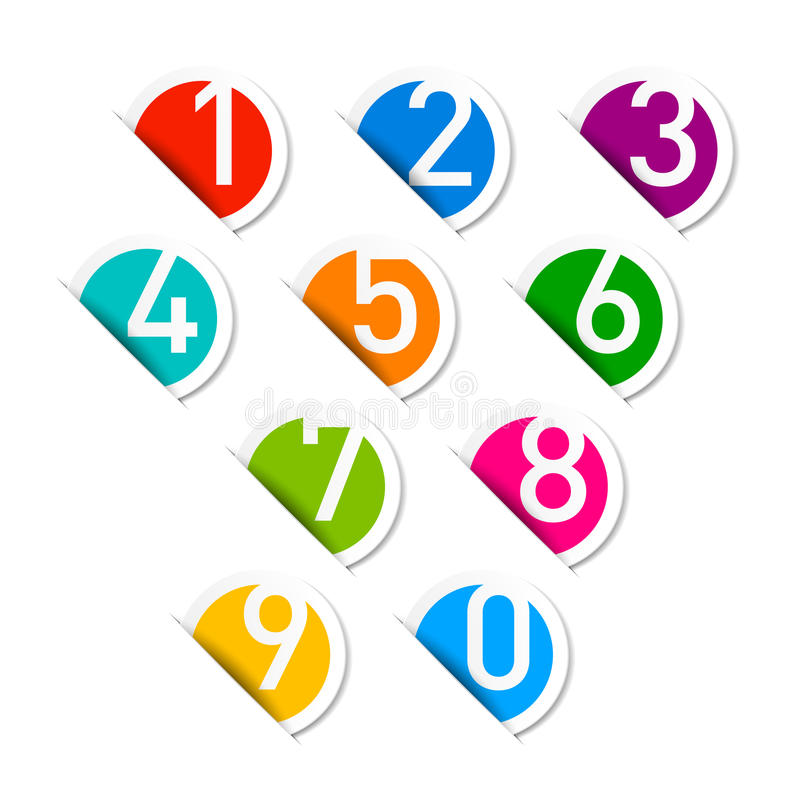 Download Numbers set stock vector. Image of five, label, first - 26166120
