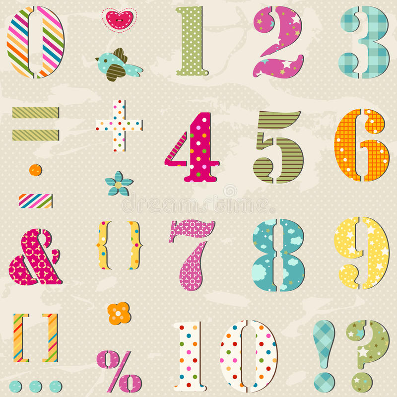 Download Numbers set stock vector. Illustration of elements, cutout - 30333915
