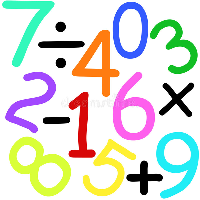 Download Numbers and signs stock illustration. Illustration of five - 2069005