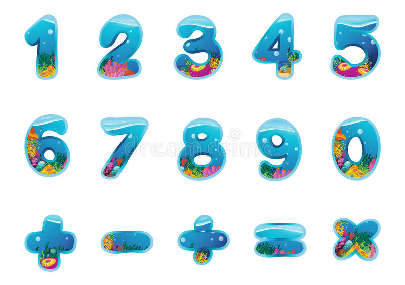 Numbers and signs stock illustration