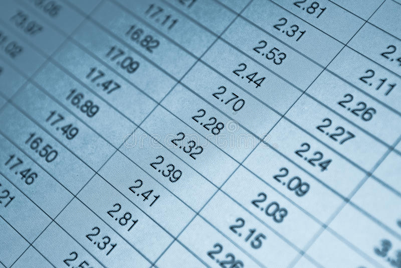 Download Numbers In Table Royalty Free Stock Image - Image: 28240056