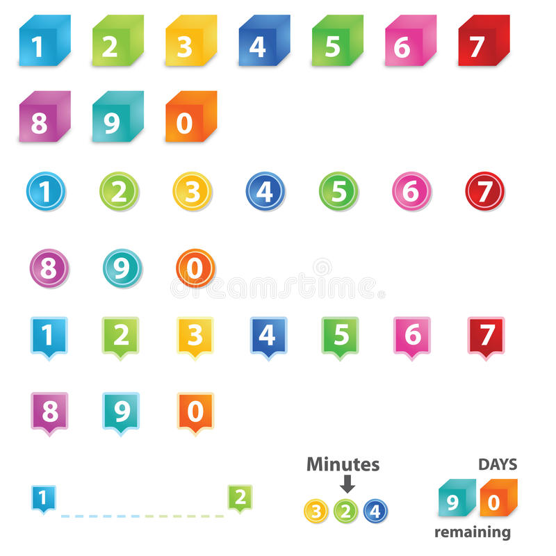 Download Numbers Template stock vector. Illustration of nine, internet - 21908540