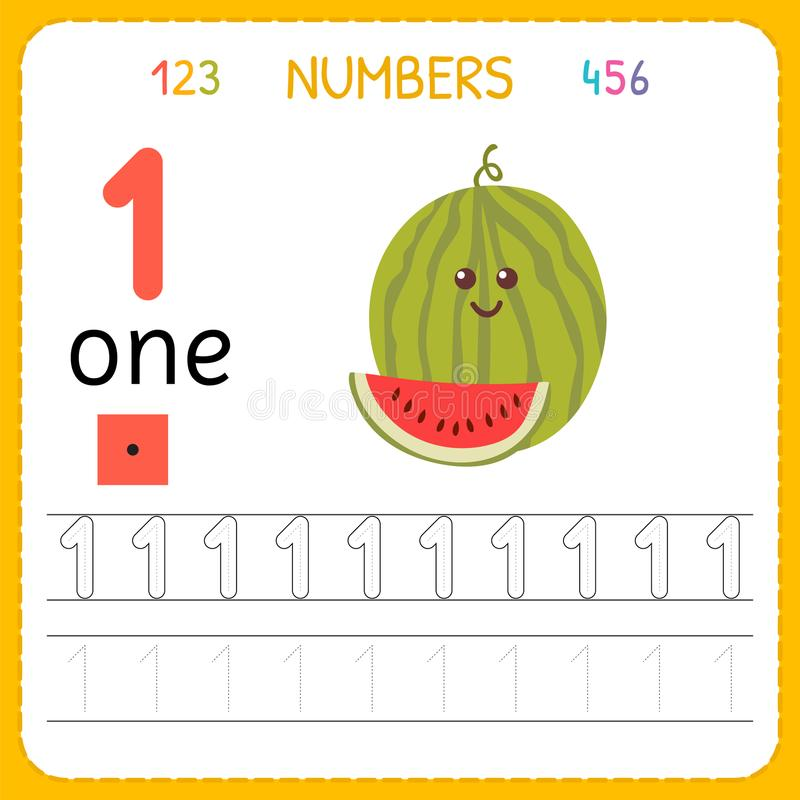 Numbers Tracing Worksheet For Preschool And Kindergarten. Writing ...