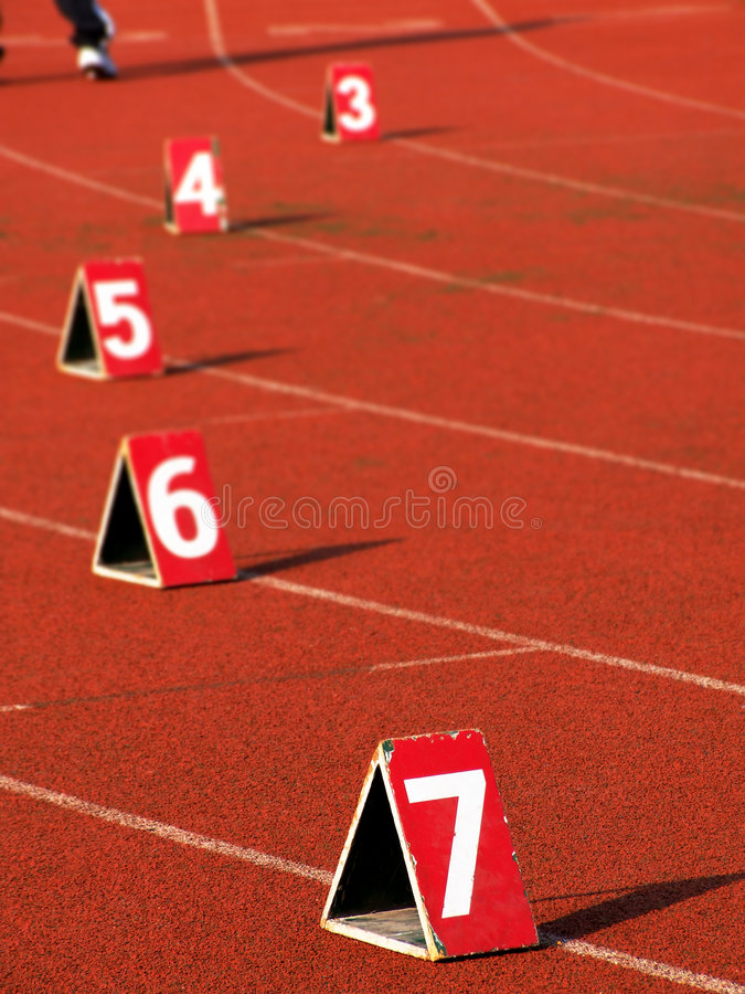 Numbers on the track royalty free stock images