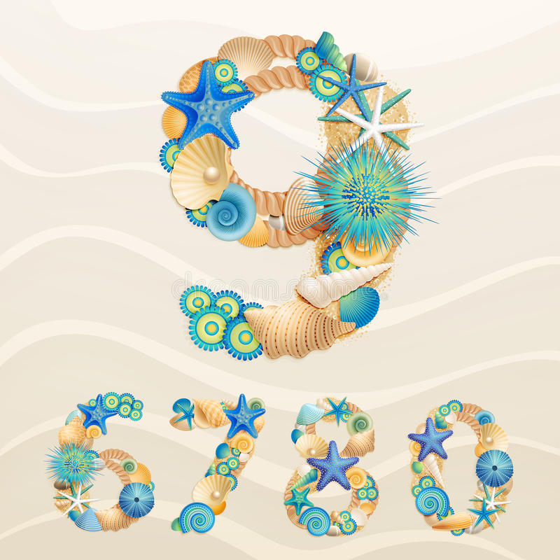 Download Numbers, vector sea life stock vector. Image of blue - 24554444