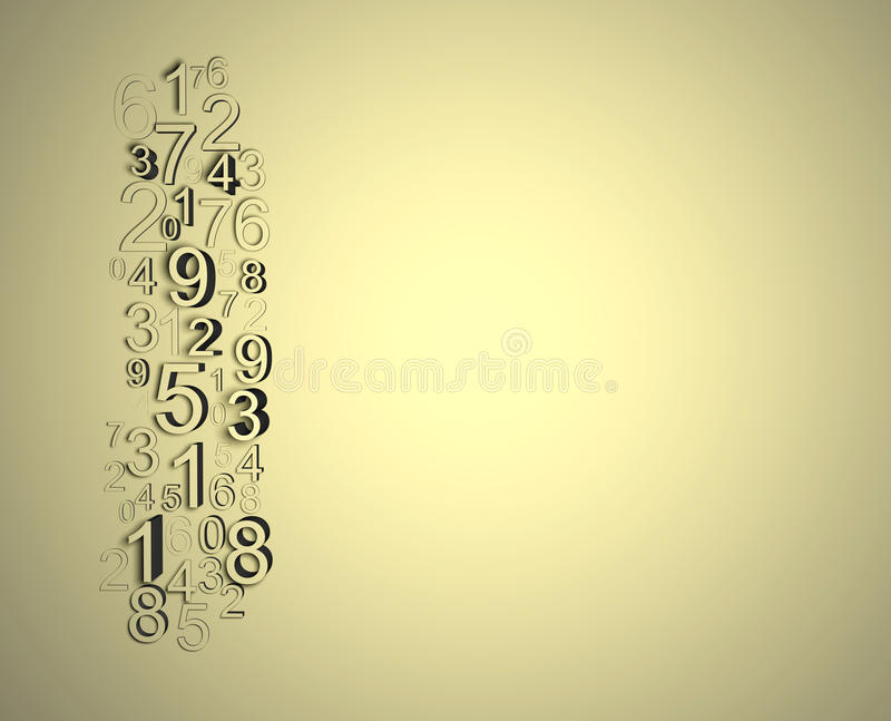 Numbers wall stock illustration
