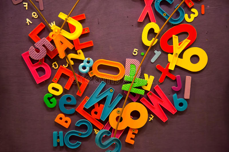Numbers and Words School Education Concept. Photo stock photography