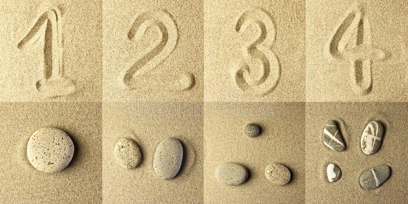 Image result for numbers stones