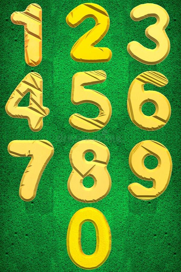 Numbers zero to Nine stock illustration