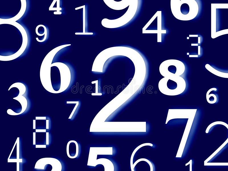 Numera caráteres dos dígitos figuras ilustração stock