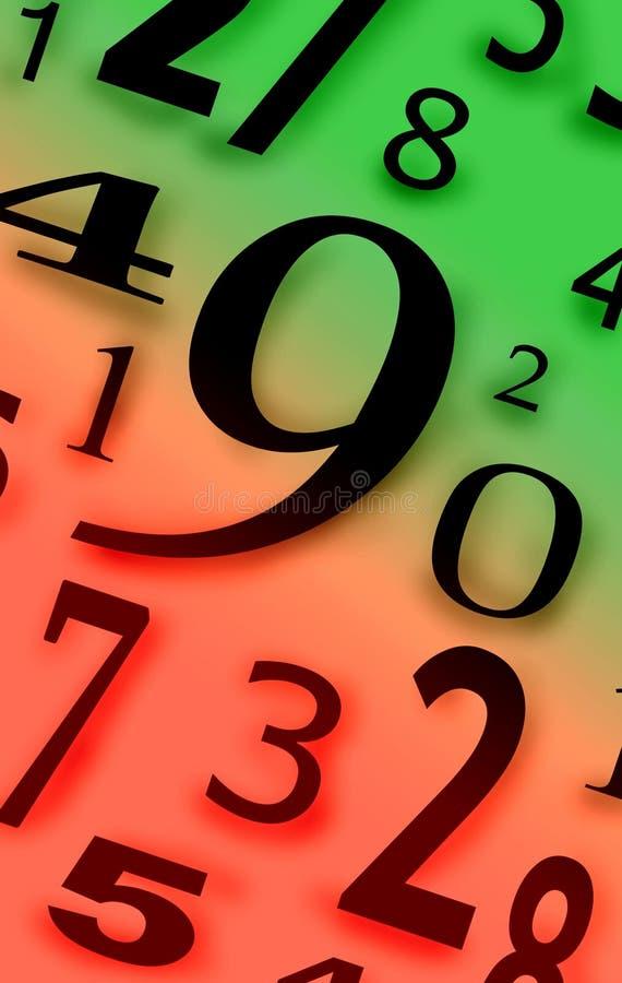 Numera caráteres dos dígitos figuras cor do fundo ilustração royalty free