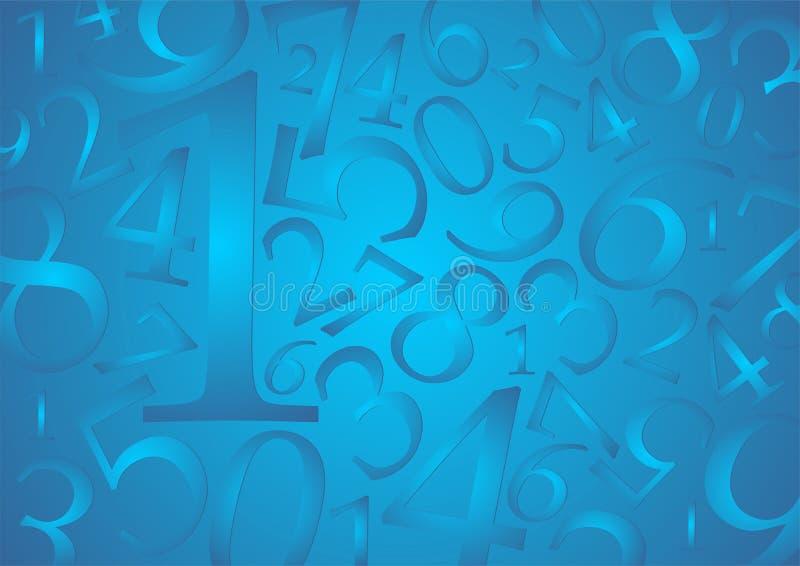 Numera el fondo ilustración del vector