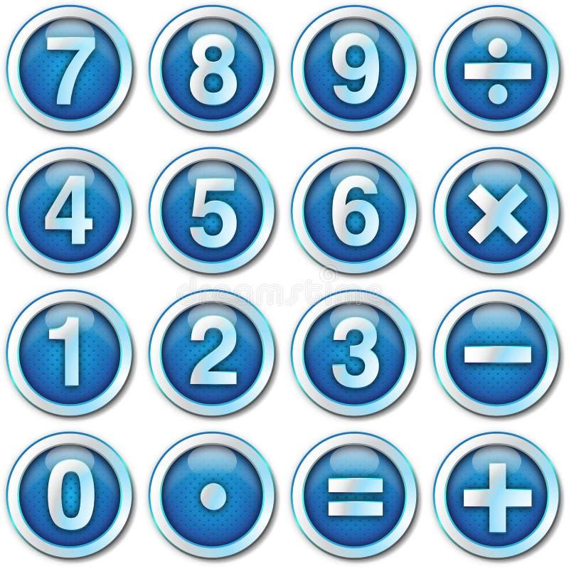 Numera le icone illustrazione di stock
