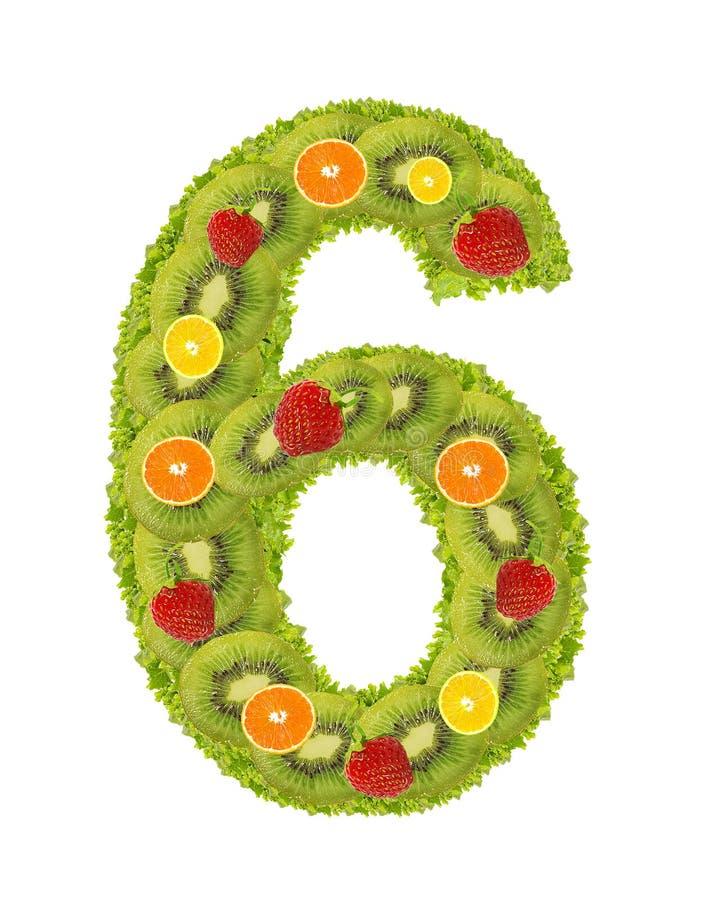 Numeral da fruta - 6 fotos de stock