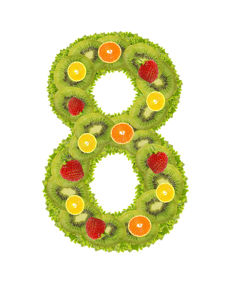 Numeral from fruit - 8