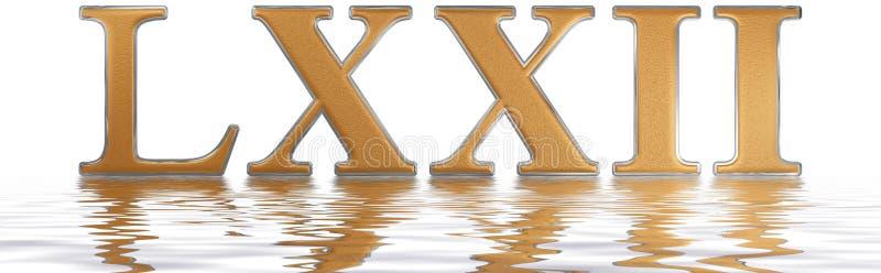 Numeral romano LXXII, duo e septuaginta, 72, setenta dois, reflec ilustração do vetor