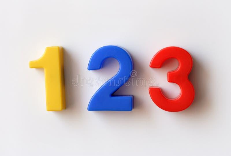 Numere ímãs do refrigerador fotos de stock