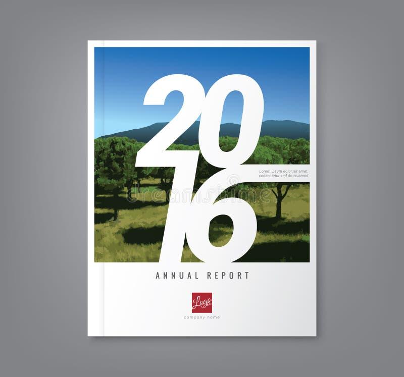 Numere a tipografia 2016 no fundo abstrato para o annua do negócio ilustração do vetor