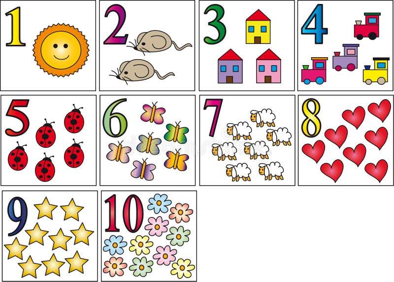 Numeri illustrazione vettoriale