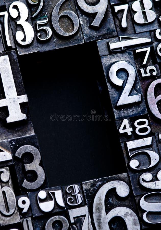 Numeri Backgound fotografia stock libera da diritti